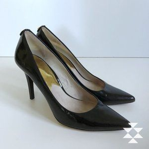 Sexy Black High Heeled Patent Leather Pumps  7.5